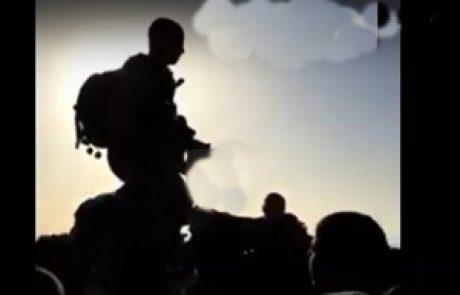 צפו: חיילי גולני שרים באמהרית בסוף האימון